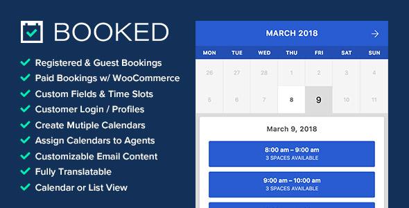 Plugin WordPress – BOOKED – Tutorial 1 de 3